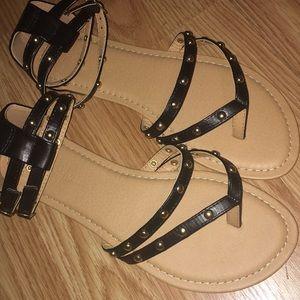 Black Fashion Nova Sandals